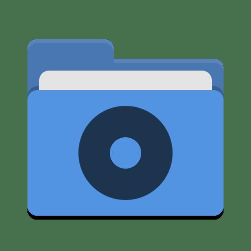 Folder-blue-cd icon