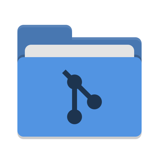 Folder-blue-git icon