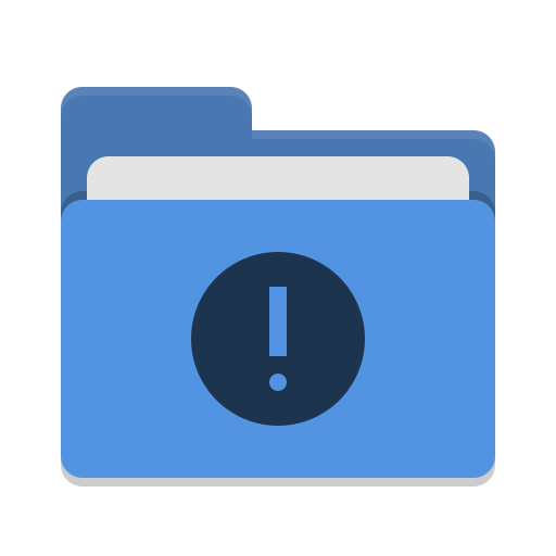 Folder blue important icon