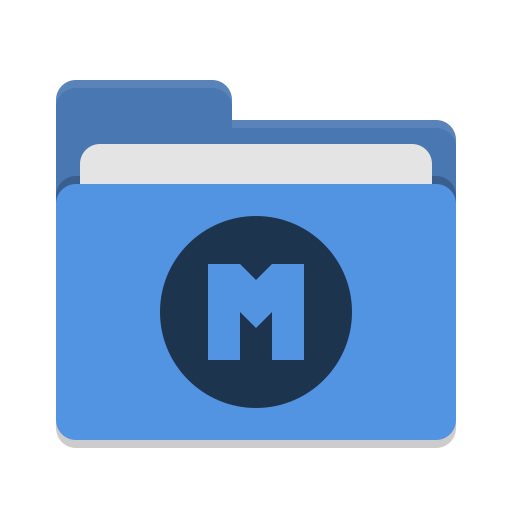 Folder-blue-mega icon