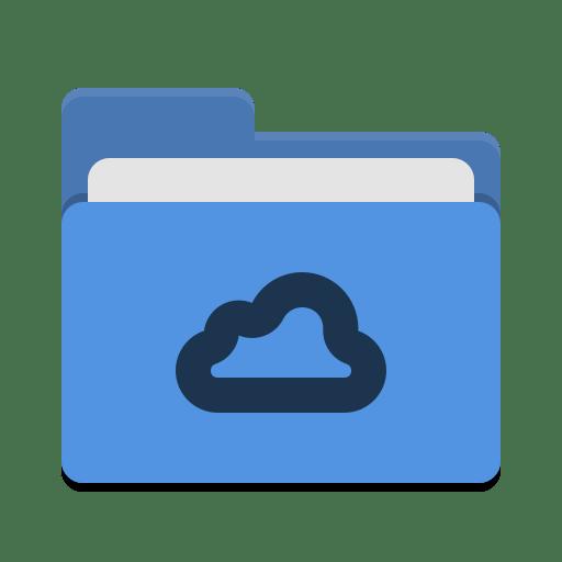 Folder-blue-meocloud icon