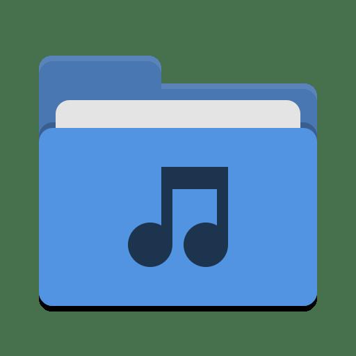 Folder-blue-music icon