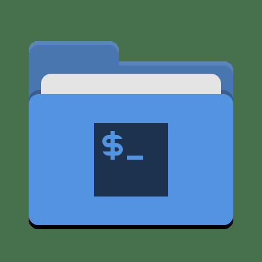 Folder-blue-script icon