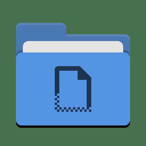 Folder-blue-templates icon