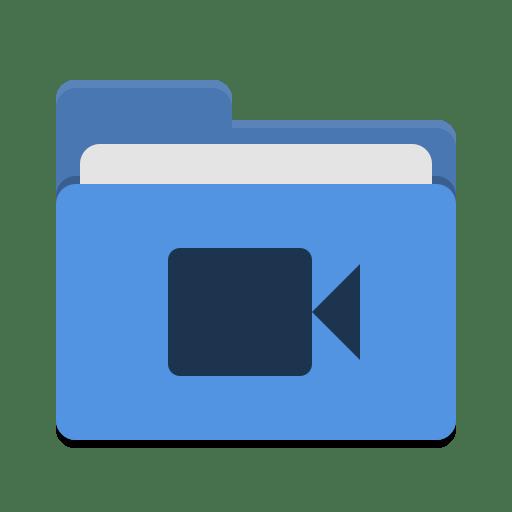 Folder-blue-video icon