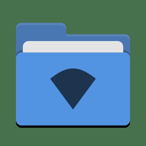 Folder-blue-wifi icon