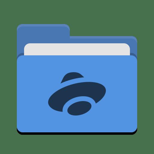 Folder blue yandex disk icon