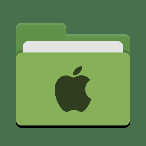 Folder-green-apple icon