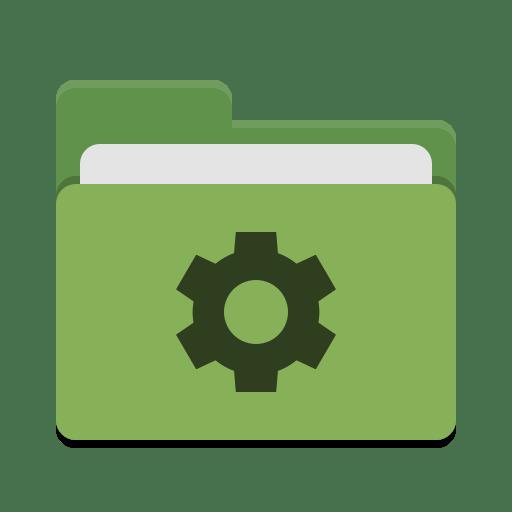 Folder-green-development icon