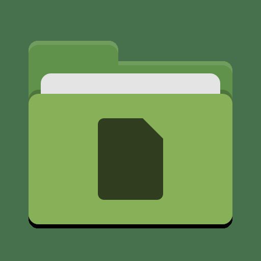 Folder green documents icon