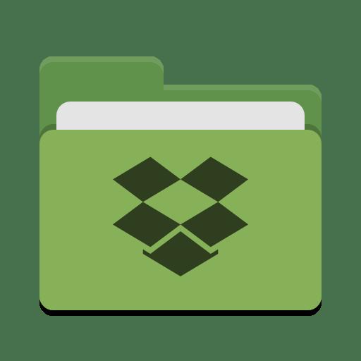 Folder-green-dropbox icon