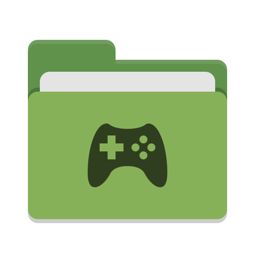 Folder-green-games icon