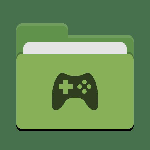 Folder green games icon