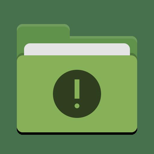 Folder green important icon