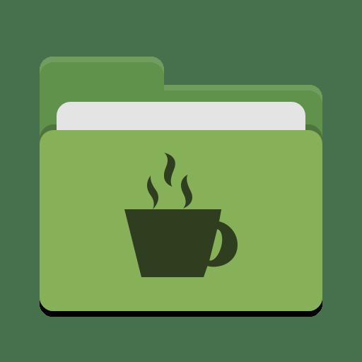Folder-green-java icon