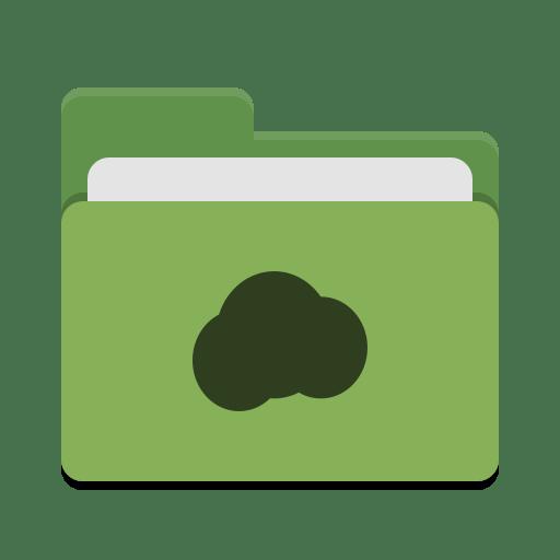 Folder-green-mail-cloud icon