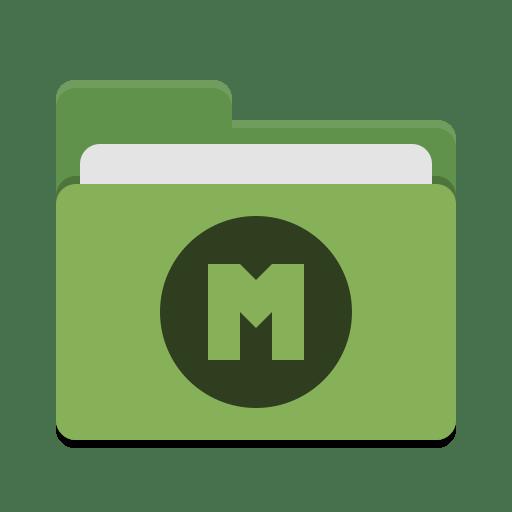 Folder-green-mega icon