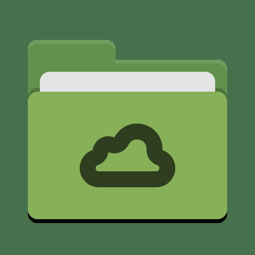 Folder green meocloud icon