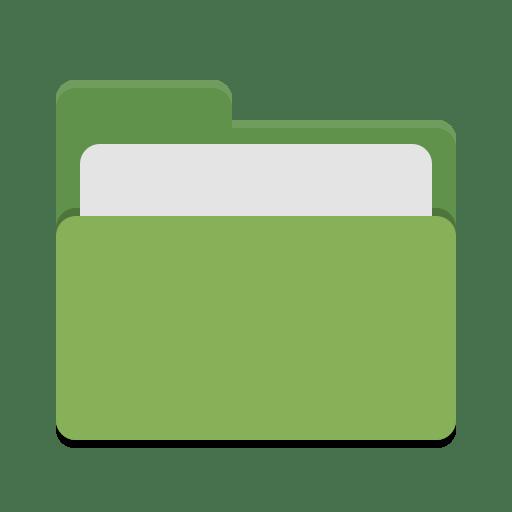 Folder-green-open icon