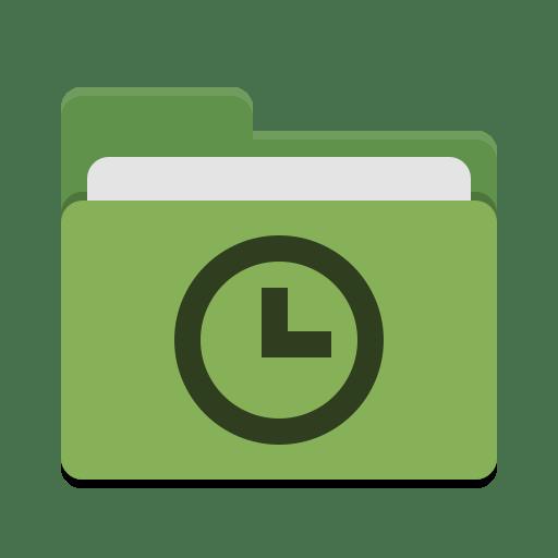 Folder-green-recent icon