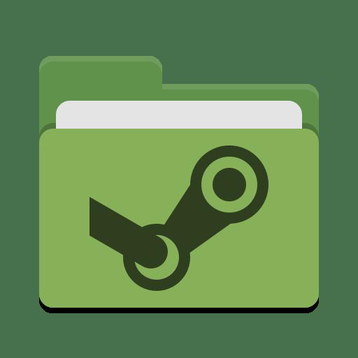 Folder-green-steam icon