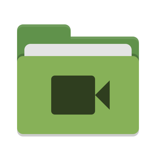 Folder-green-video icon