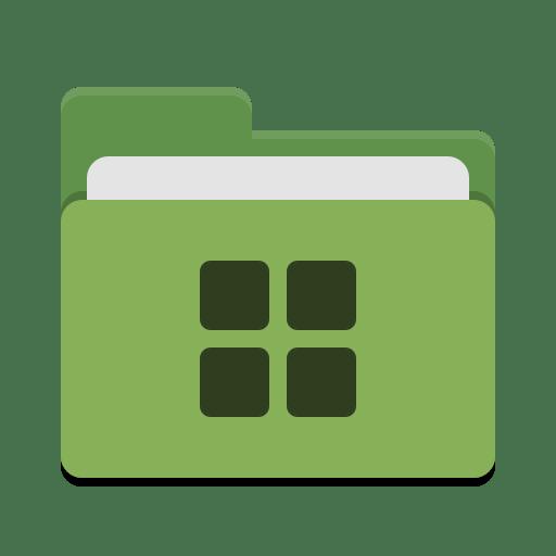 Folder-green-wine icon