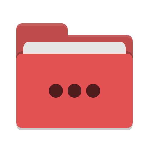 Folder-red-activities icon