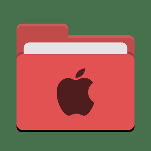 Folder-red-apple icon