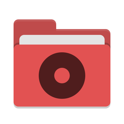 Folder-red-cd icon