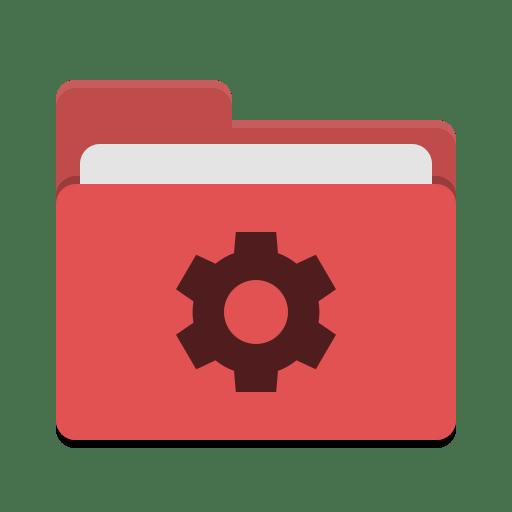 Folder-red-development icon