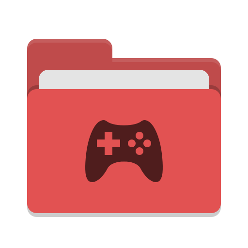 Folder-red-games icon