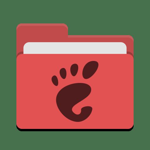Folder-red-gnome icon