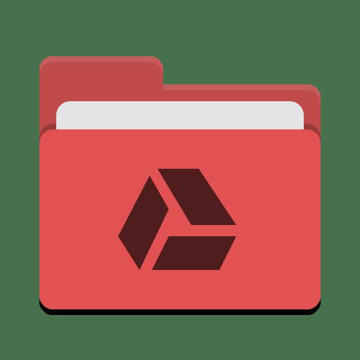 Folder-red-google-drive icon