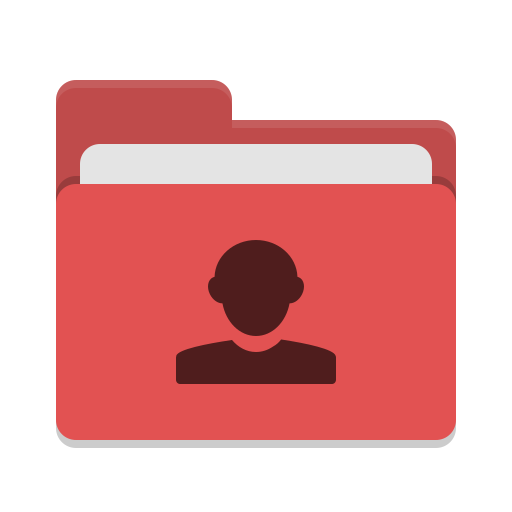 Folder-red-image-people icon