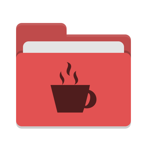 Folder-red-java icon
