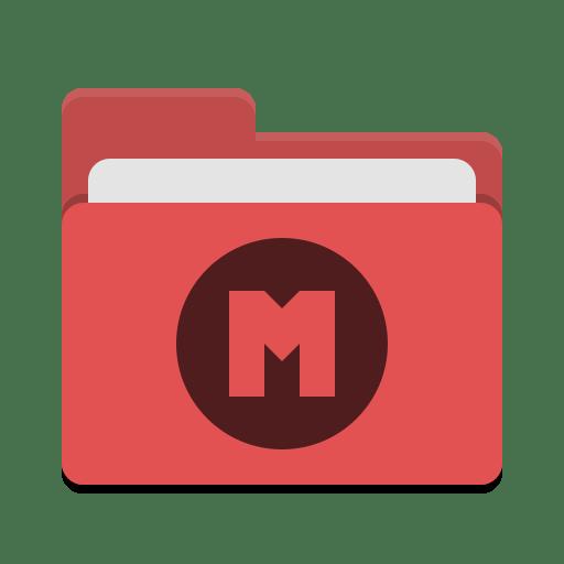 Folder-red-mega icon