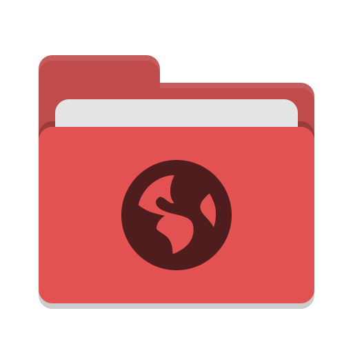 Folder-red-network icon