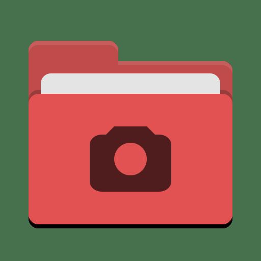 Folder-red-photo icon