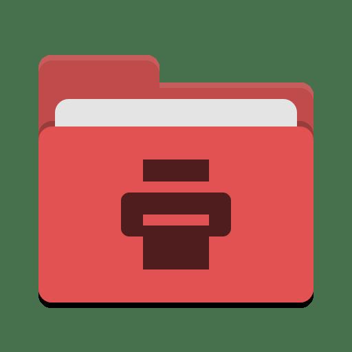 Folder-red-print icon