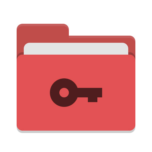Folder red private icon