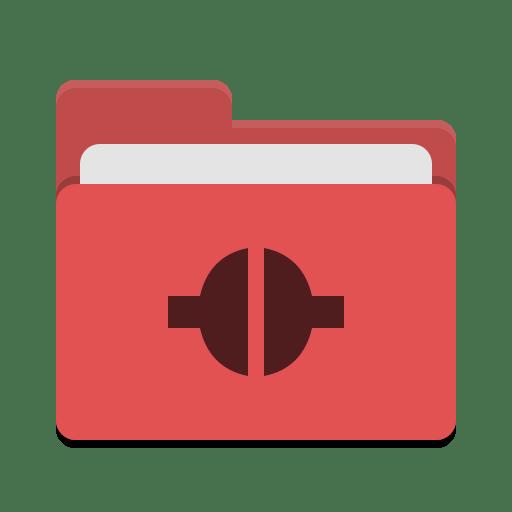 Folder red remote icon