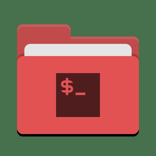 Folder red script icon