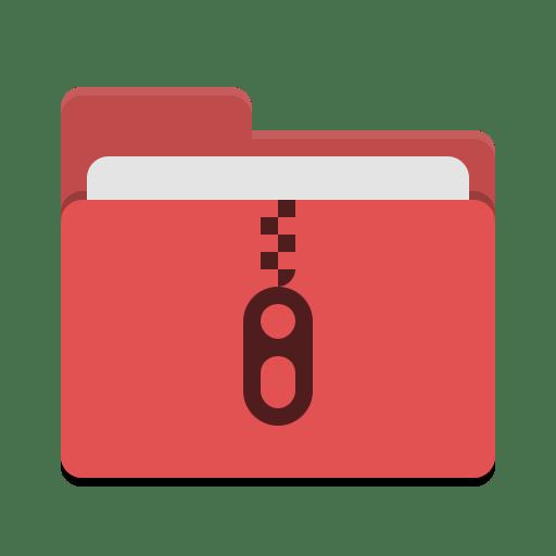 Folder red tar icon