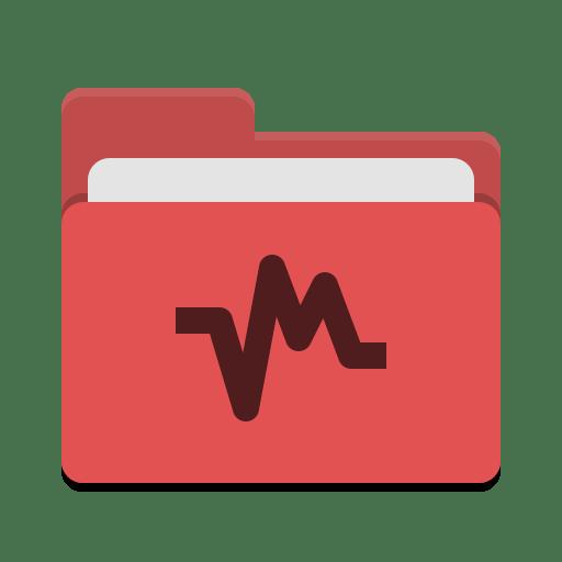 Folder-red-vbox icon