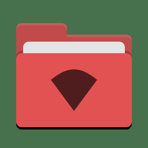 Folder red wifi icon