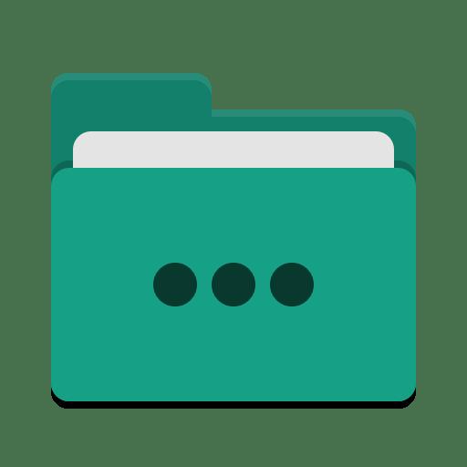 Folder-teal-activities icon