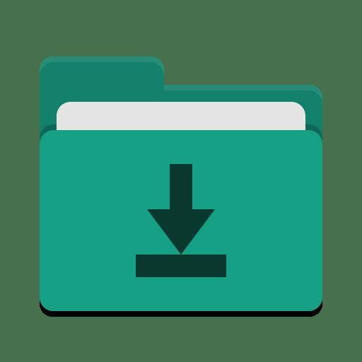 Folder teal download icon