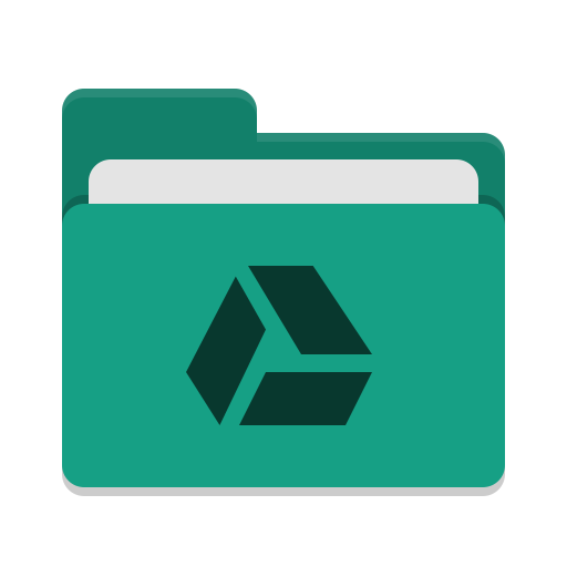 Folder-teal-google-drive icon