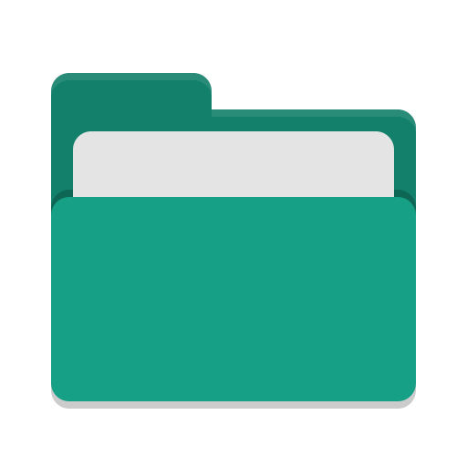 Folder-teal-open icon